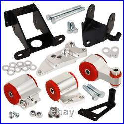 06-11 Civic SI K20 Aluminum Motor Engine Mount Replacement Upgrade Silver Red