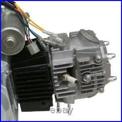 125cc ATV Semi Auto Engine Motor Kit with Exhaust Replace 110cc Go Kart Quad ATC70