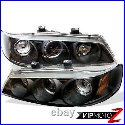 1PC Twin Halo Projector Black Headlight Lamp Amber Corner For 94-97 Honda Accord