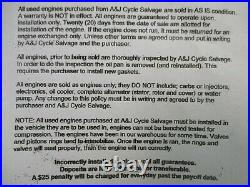 2001 Honda RC51 RVT1000 Replacement engine, motor assembly Only 340 Miles