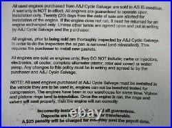 2005 Honda CBR600RR, Replacement engine, motor block 8,400 miles #31921