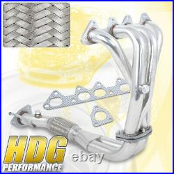 4-2-1 S/S Racing Header Exhaust Manifold For 98 99 00 01 02 Honda Accord 4Cyl