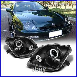 Black Halo Projector Headlight For 97-01 Honda Prelude Type S SH Si H22 V-TEC