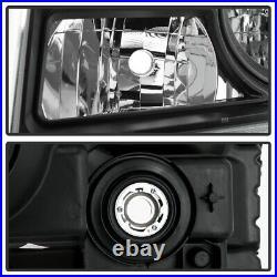 Black Housing Headlight Replacement Driving Signal Lamp For 12-15 Honda Pilot
