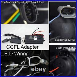CCFL Halo Angel Eye Projector Black Headlight Lamp For Honda Accord 03-07 2/4DR