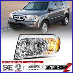 Driver side For Honda Pilot LX EX 2009 2010 2011 Left Headlight Lamp Assembly