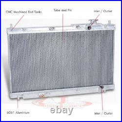 Dual Core/Row Performance Engine Cooling Radiator For 2001-2005 Honda Civic 1.7L