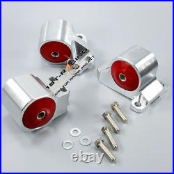 Engine Swap Mount Kit For Honda Civic Del Sol EG Chassis Acura Integra DC2 RED