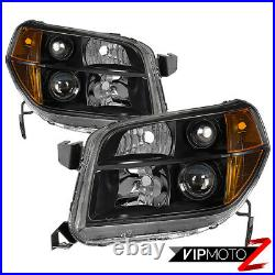 FACTORY STYLE For 06-08 Honda Pilot Black Housing Headlights Lamps Replacement