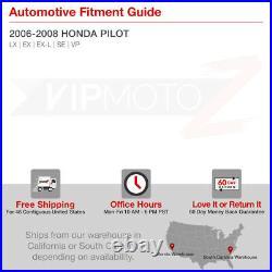 Factory Style Chrome Housing Headlight Replacement Pair For 2006-08 Honda Pilot