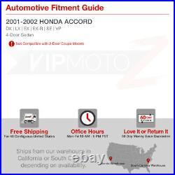 For 01-02 Accord DX/LX/EX 4DR CG5 CG6 JDM Black Tail Lights Brake Lamp V6 EURO R