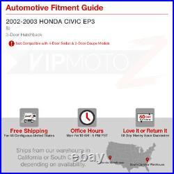 For 02-03 Honda Civic 3DR EP3 Si K20 Hatchback JDM Black Tail Lights Brake Lamp