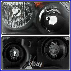 For 05 06 Honda CRV CR-V Japan Built Model Black Headlight LH RH Lamp Assembly