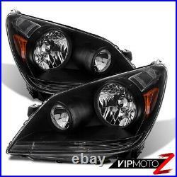 For 05-07 Honda Odyssey Mini Van Black JDM STYLE Front Headlight Assembly Lamp