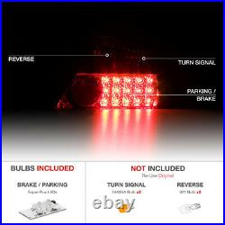 For 06-11 Honda Civic FG 2D Coupe RED/CLEAR LED Rear Brake Lamp Tail Lights PAIR