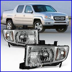 For 06-14 Honda Ridgeline PickUp LEFT RIGHT Side Replacement Headlight Assembly