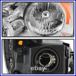 For 07-11 Honda CRV Factory Style Chrome Amber Corner Signal Headlight Assembly