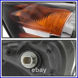 For 08-10 Honda Odyssey Black Crystal Clear Replacement HeadLight Front Signal