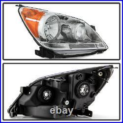 For 08-10 Honda Odyssey Chrome Housing Amber Corner Signal Lamp Headlight Lamp