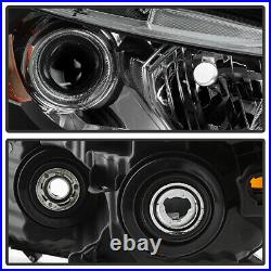 For 08-12 Honda Accord 2-DR Coupe Black Projector Headlight Lamp