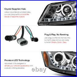 For 08-12 Honda Accord 4D Sedan JDM Smoke Headlight Headlamp HALO LED DRL Strip