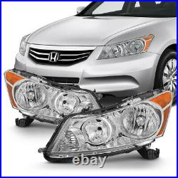 For 08-12 Honda Accord Sedan Factory Style Headlights Replacement Lamp L+R Pair