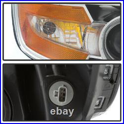For 11-17 Honda Odyssey Headlight Projector Lamp Chrome Replacement Left+Right