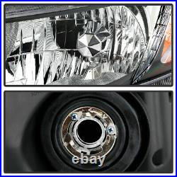 For 12-15 Honda Civic Chrome Crystal Clear Replacement Headlight Projector Lamp