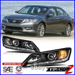 For 13-15 Honda Accord 4D witho LED DRL Factory Style Replacement Headlight Lamp
