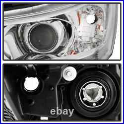 For 13-15 Honda Accord Sedan Headlight Chrome Replacement Lamp Left+Right Pair