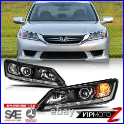 For 13-15 Honda Accord Sedan Headlight Replacement Lamp Driver+Passenger Side