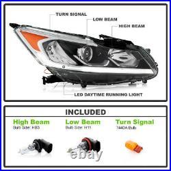 For 16-17 Honda Accord Projector Headlight LED Lamp Model Right Passenger Side