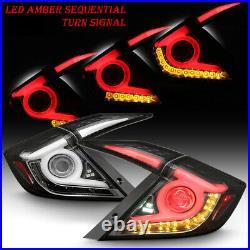 For 16-20 Honda Civic 4DR Sedan Rear LED Sequential Signal Light Tail Brake Lamp