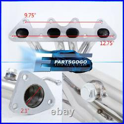 For 1998-2002 Honda Accord Dx Ex Lx Se 4Cyl L4 Stainless 4-2-1 Exhaust Header