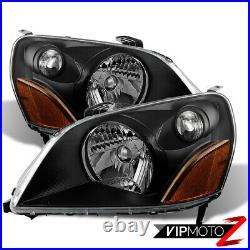 For 2003-2005 Hond Pilot SUV JDM STYLE Black Front Headlights Assembly PAIR