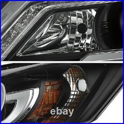 For 2013-2015+ Honda Accord 9TH 2.4 3.5 JDM Black LED DRL Projector Headlight