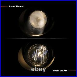 For 90-91 Honda Civic/CRX Black Halo Ring Projector Headlight Side Driving Lamp