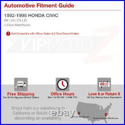 For 92-95 Honda Civic HatchBack EH2 EH3 JDM Red Clear LED Tail Brake Light Pair