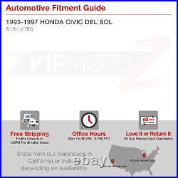For 93-97 Honda Civic Del Sol 1.6 Vtec Si Black 1PC JDM Corner Lamp Headlight