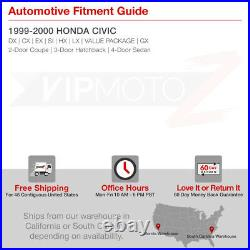 For 99-00 Honda Civic Si Halo Projector Black Headlight Corner Signal Lamp L+R