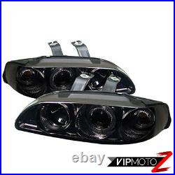 For Honda Civic 92-95 EG Smoke Angel Eye Projector Headlight Pair LH+RH Assembly