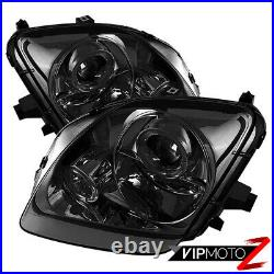 Halo Smoke Angel Eye Projector Headlight Pair Assembly For 97-01 Prelude Type-SH