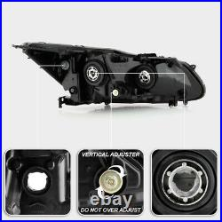 LED DRL Model ONLY For 16-17 Honda Accord Projector Headlight Driver+Passenger