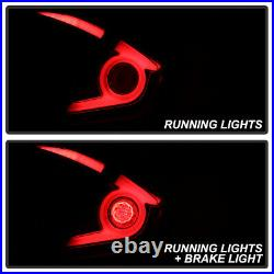 LED Sequential Signal Black Smoke For 16-21 Honda Civic 4D Neon Tube Tail Light
