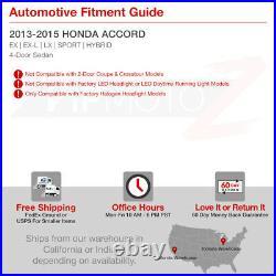 Right RH Passenger Side For 13-15 Honda Accord 4-Door Sedan Driving Headlight