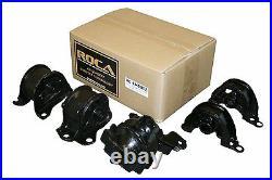 Roca For 96-00 CIVIC At/mt Sohc Engine Transmission Mount Bushing Kit Oe 5pcs