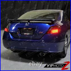 SMOKED For 06-11 Honda Civic 2 Door Coupe LED Tinted Taillights Brake Lamps PAIR
