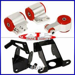 Silver Red JDM Engine Mount Motor Kit For 06-11 Civic Si K20 Coupe Sedan Manual