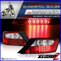 Xenon White LED Reverse Bulb 06-11 Civic 2DOOR RED Rear Brake Lamp Tail Light